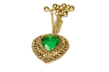 Precious Gem Pendant wth Chain and Bells