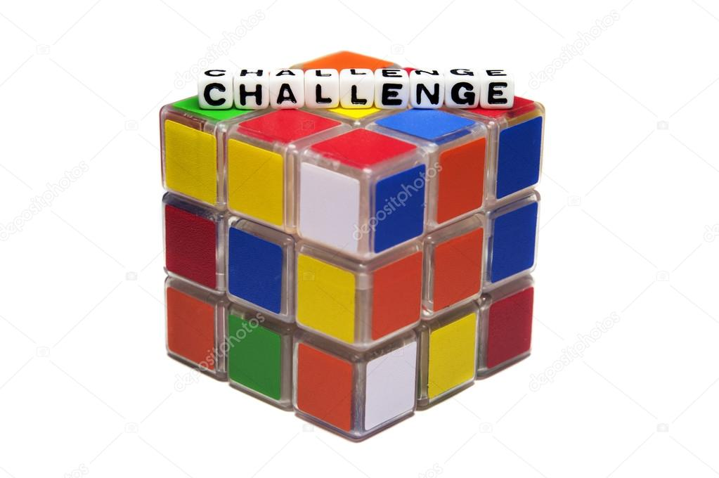 Challenge text on rubik's cube