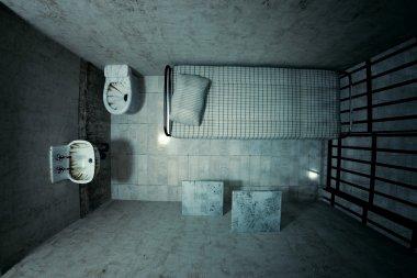 Prison cell.
