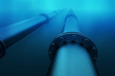 Underwater pipeline.