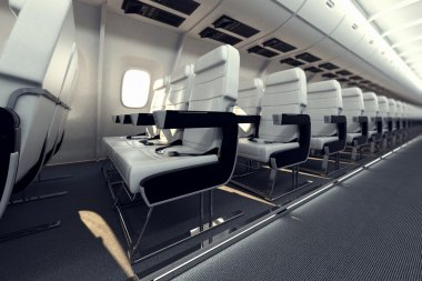 Airplane seats.