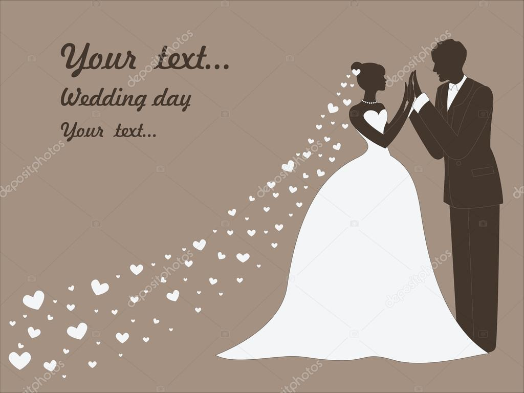 wedding vector pictures, bride and groom