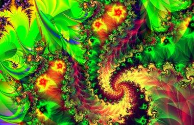 Colorful fractal decorative feature, magic splendor, wonderful h