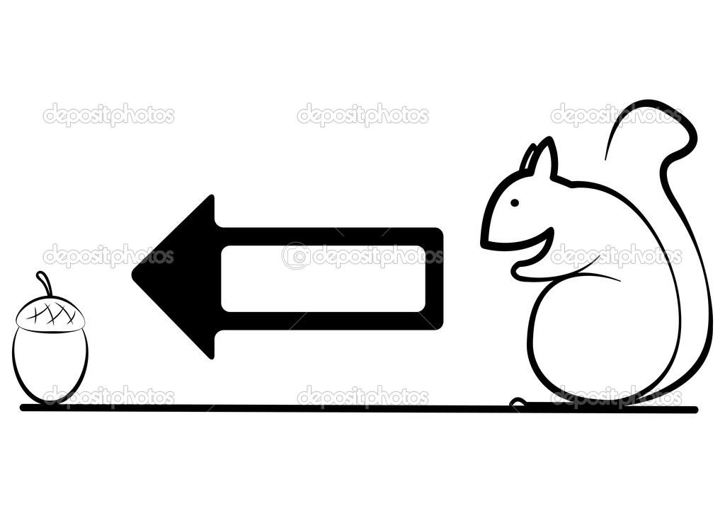Ilustración de la ardilla va a bellota — Archivo Imágenes ...