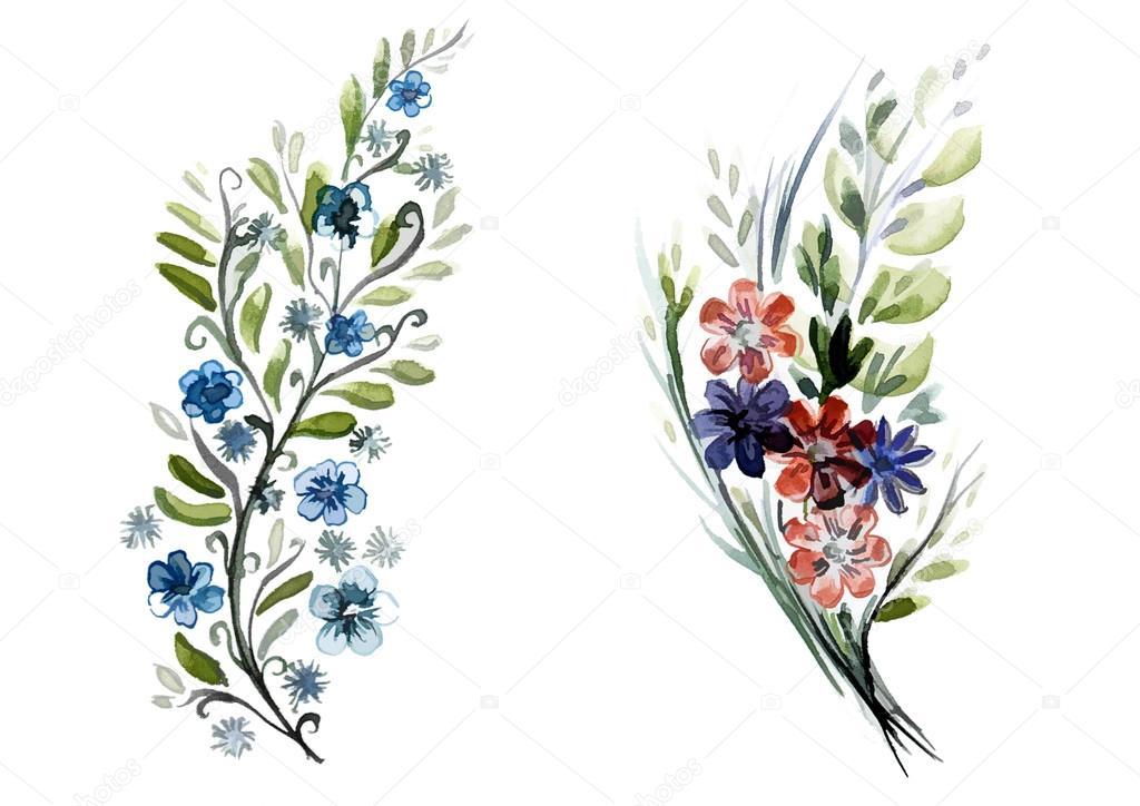 Imágenes: ramitos de flores | ramitos de flores y hojas — Foto de ...