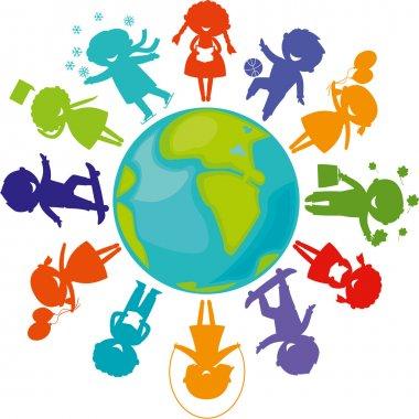 Silhouettes_children_world