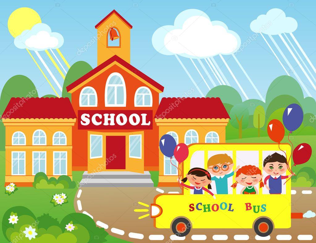 School — Stock Vector © PushnovaL #19133017