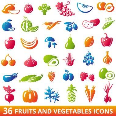 Fruits Vegetables Set