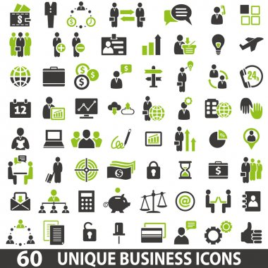 Set of 60 business icons. stock vector