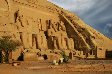 Abu Simbel, Egypt. Ancient Egyptian Pharaoh Rameses the 2nd