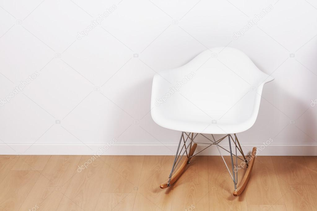 Pleasant Modern White Rocking Chair And Wall Stock Photo Bralicious Painted Fabric Chair Ideas Braliciousco