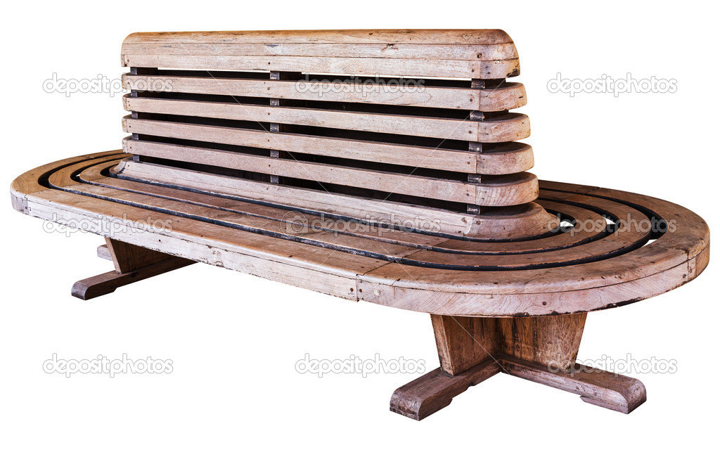 Ancienne Chaise Bois Style Railway Station Photo
