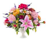 Photo Flower bouquet in ceramic vase