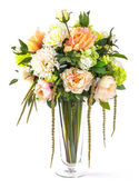 Photo Bouquet of flowers in glass vase