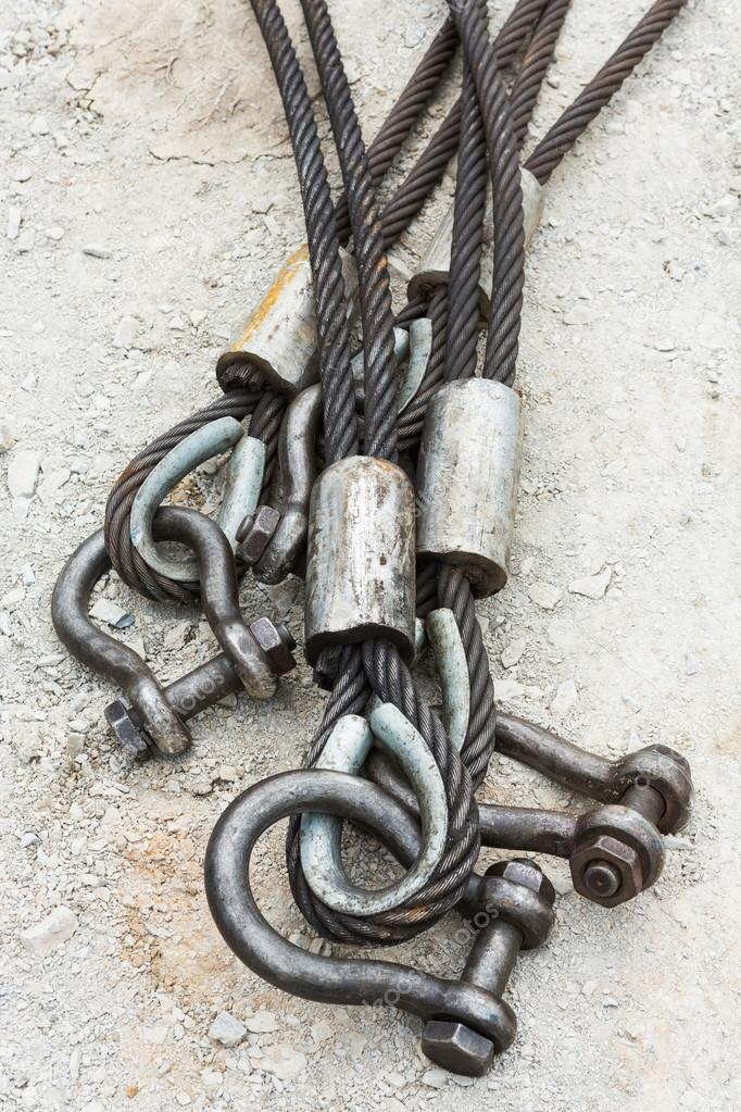Heavy duty steel wire rope sling — Stock Photo © smuayc #31818079