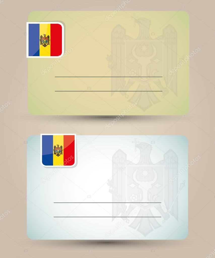 Moldova Flag Business Card Holder