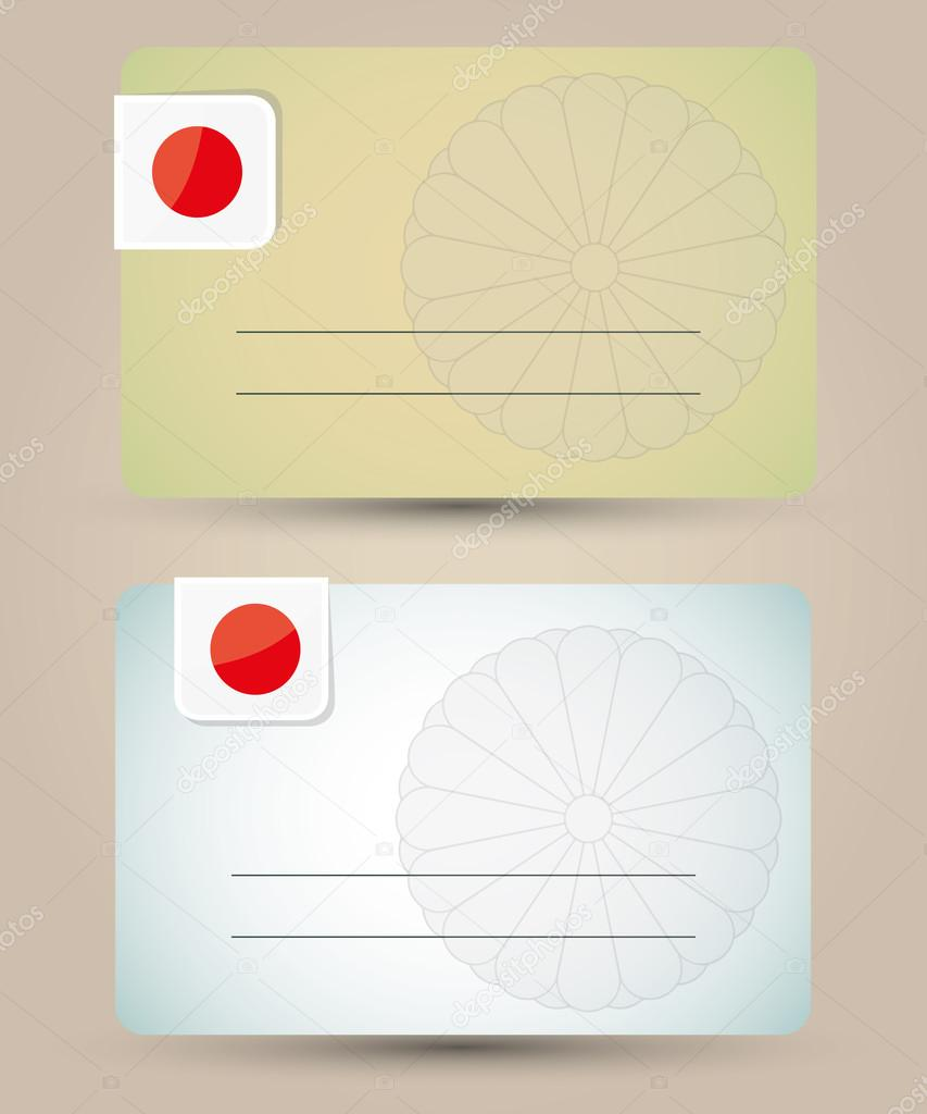 business card with flag and imperial seal of Japan — Stock Vector ...