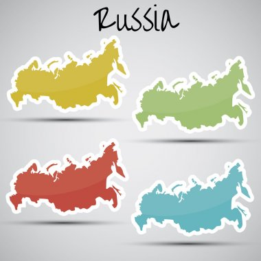 Stickers in form of Russia