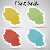 nálepky v podobě Tanzanie