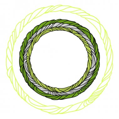 Twisted round frame