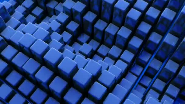 Background with blue cubic waves