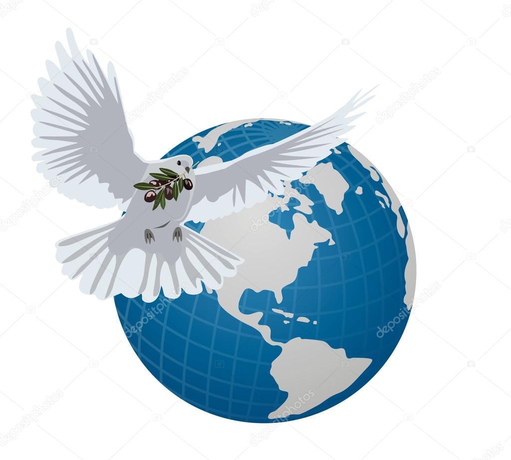 символ мира голубь и шар земной картинки год