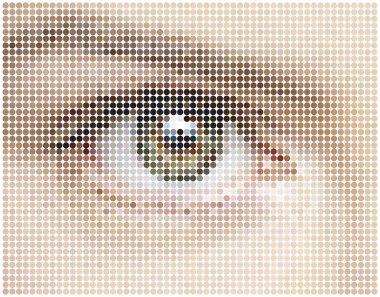 mosaic background of eye circles