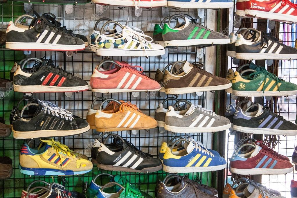 Shoes at Sunday market in Bangkok, Thailand — Photo by yanzharskikh