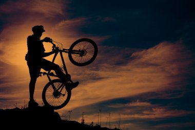 Mountain biker at top of the hill