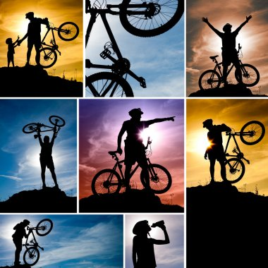Mountain bike collage