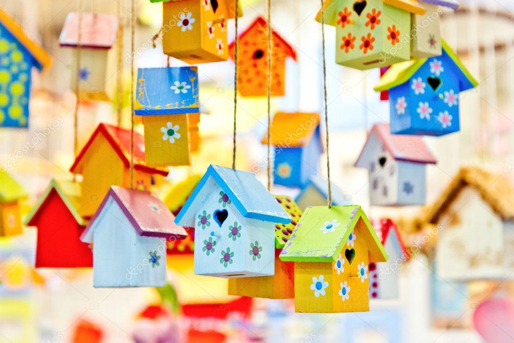 Birdhouses background