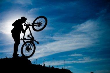 Mountain bike man outdoor