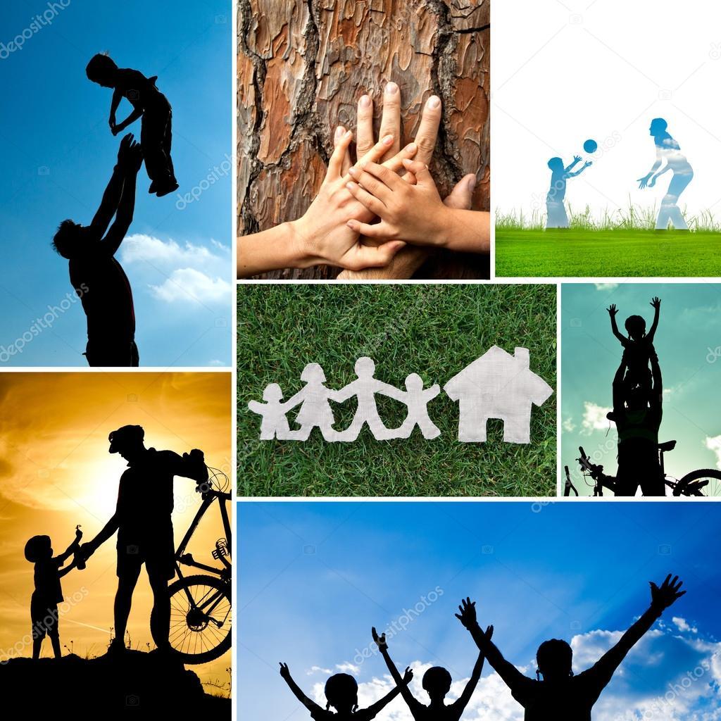 Happy family concept outdoor activities stock vector