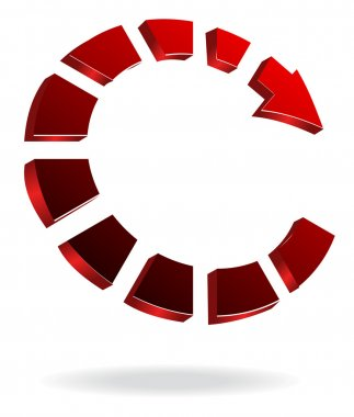 Red Arrows Ring Rotating