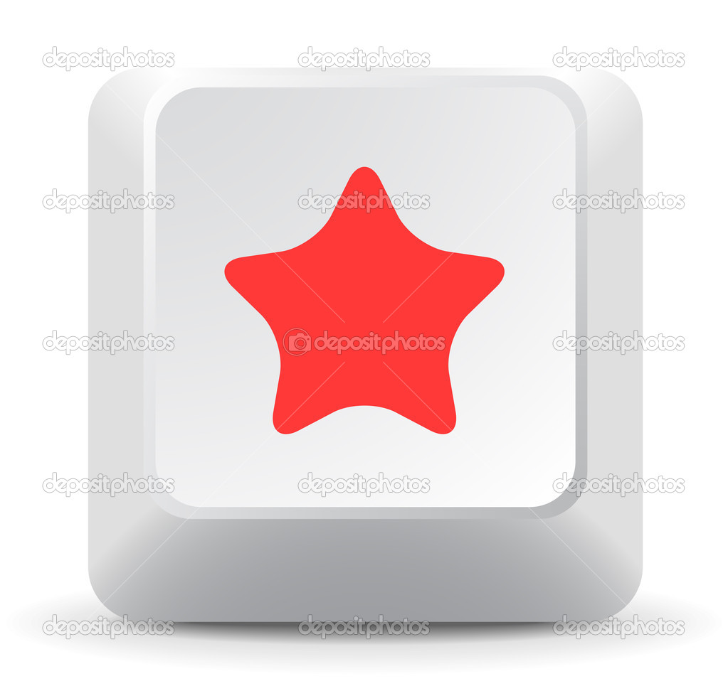 stjärna symbol tangentbord