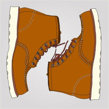 Working boots pair
