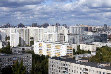 City landscape - the Southwest of Moscow. Russia