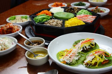 Korean cuisine set