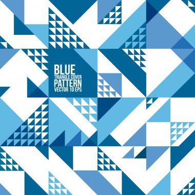 Abstract Geometric Blue Triangle Pattern. Background , Cover , Layout , Magazine, Brochure , Poster , Website , etc.