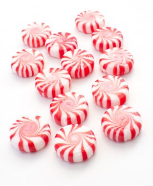Striped holiday mint candies