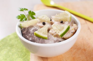 Herring fish marinated in lime and spices