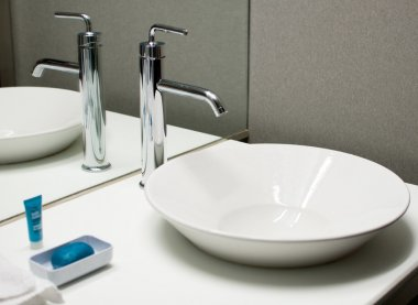 Modern faucet and sink