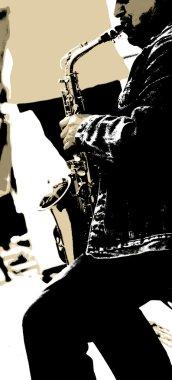 The saxophonist