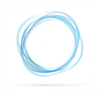 Blue rings logo isolated on white background stock vector