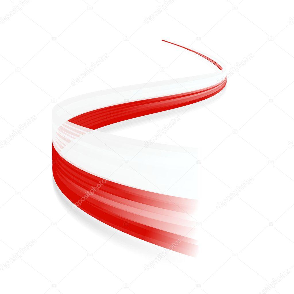 polish flag u2014 stock vector zagandesign 28865113