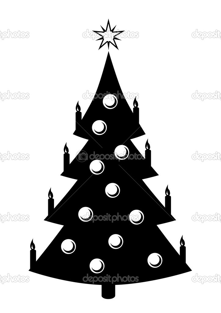Symbol Weihnachtsbaum.Weihnachtsbaum Symbol Schwarz Stockvektor Dkvektor 18904391