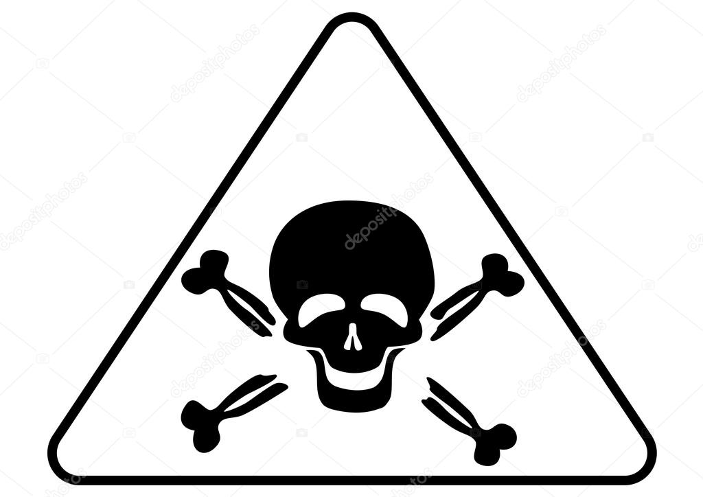 Attention Poison Sign Stock Photo Dkvektor 19702827