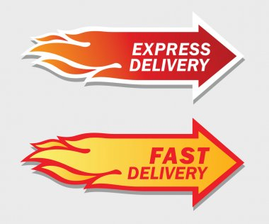 Express and Fast Delivery symbols. Vector illustration. stock vector