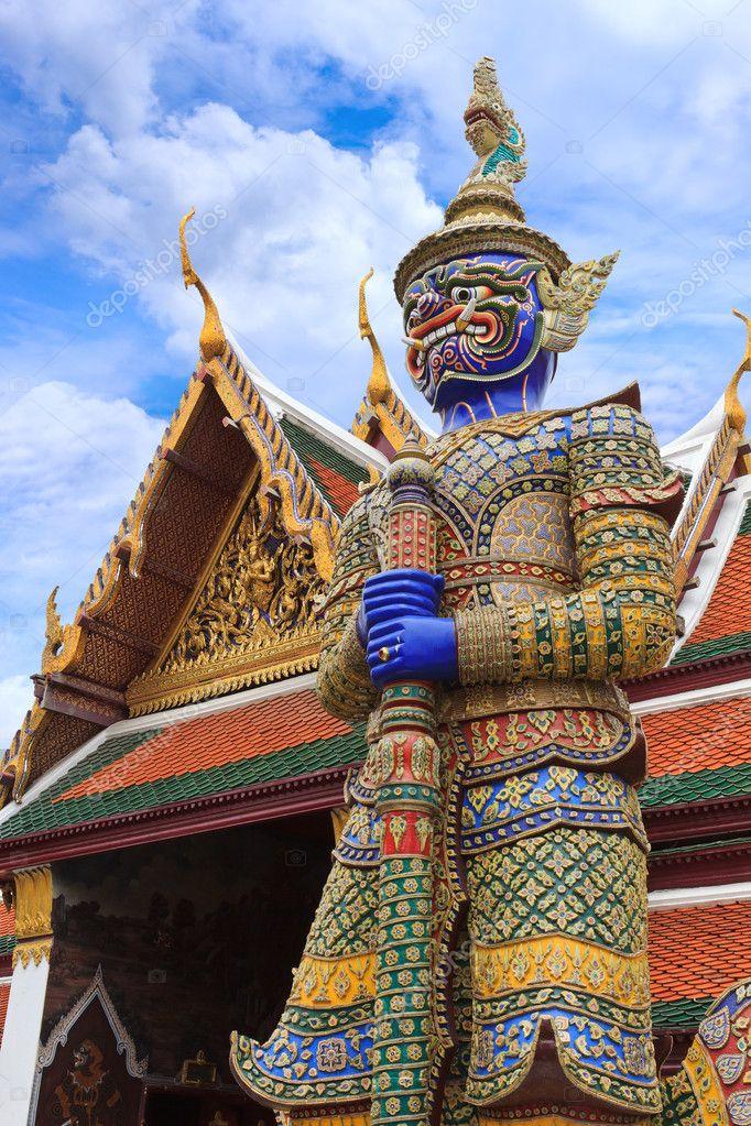 Demon Guardian at Wat Phra Kaew, Temple of the Emerald Buddha, B