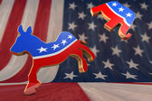 Photo Democrat Symbol Kicks Republican Symbol